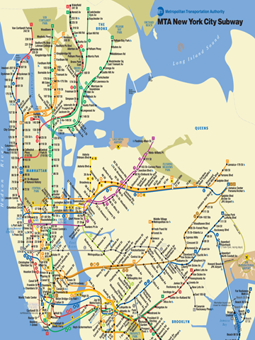 Large Ny Subway Map.The Anatomy Of New Public Transit The Opportunities And Challenges